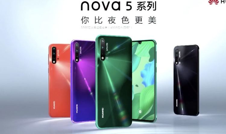 Huawei Nova 5, Huawei Nova 5i, Huawei Nova 5 Pro