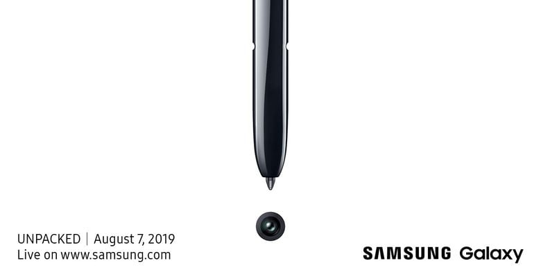 Poster Galaxy Unpacked 2019
